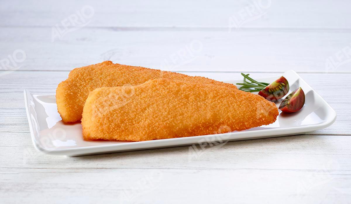 Filetes de merluza empanados. ALFRIO ultracongelados