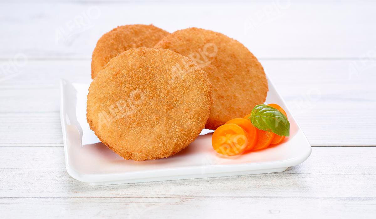 Medallones de merluza empanados. ALFRIO ultracongelados
