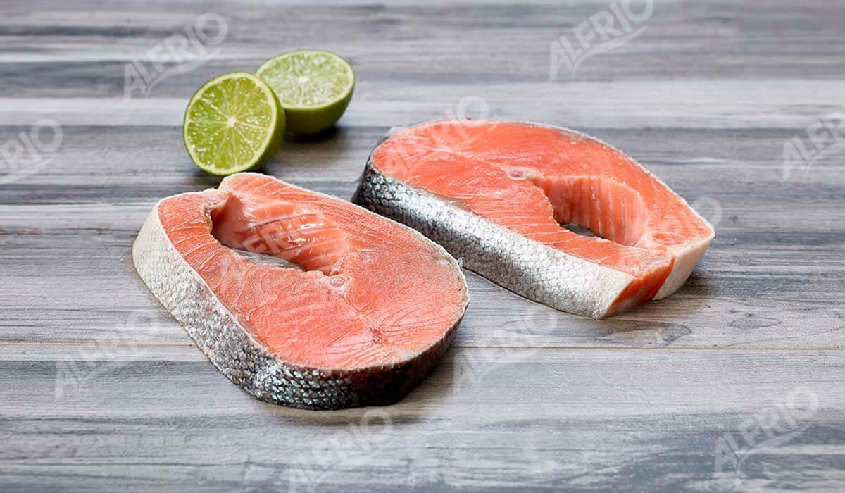 Rodajas de salmón. ALFRIO ultracongelados